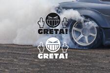 GRETA FACE FUG stickers UK Car/van/truck/bike/window sticker X2
