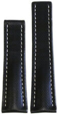 20mm RIOS1931 for Panatime Black Kevlar Style Synthetic Watch Band WS For Breitl