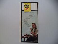 advertising Pubblicità 1964 CAFFE' BOURBON BOUR BON