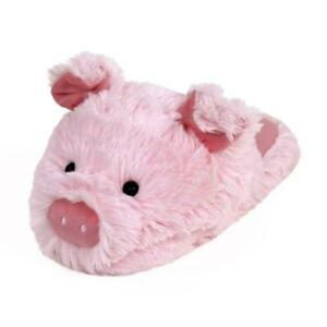 Fuzzy Pig Slippers - Pink House Shoes for Men & Women - One Size