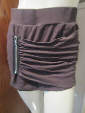GREY SIDE ZIPPER MINI RUCHED SKIRT FROM HOT TOPIC SIZE LARGE