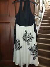 Coast Bella Rose Black & White Prom Evening Party Cocktail Dress Size 12 £160