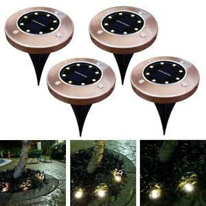 8 LED Buried Solar Power Light Under Ground Lamp Outdoor Path Way Garden Decking