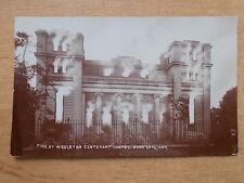 VINTAGE 1909 POSTCARD - FIRE AT WESLEYAN CENTENARY CHAPEL - BOSTON   RP