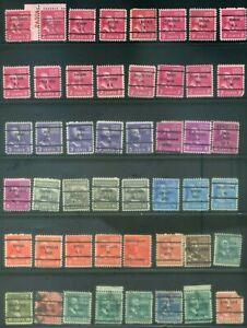 48 Piece US Precancel Collection TEN01