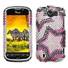 Twin Stars Bling Case Phone Cover HTC myTouch 4G Slide