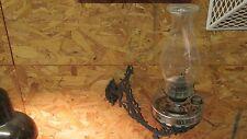 Antique Stover Ideal Cast Iron Oil Bracket Lamp