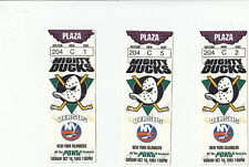 3 DUCKS VS ISLANDERS TICKET STUB LOT 10/10/93 PIERRE TURGEON 2 GOALS