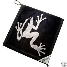 Authentic Frogger Amphibian Golf Towel Black W Free Champ Golf Tees