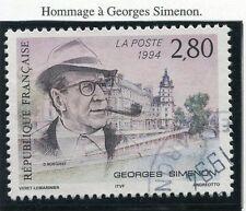 TIMBRE FRANCE OBLITERE N° 2911 GEORGES SIMENON / Photo non contractuelle