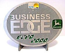 John Deere Melbourne Expo 2000 Business Edge PEWTER Belt Buckle Lt Ed MASTER/150