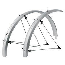 SKS B42 Commuter 2 - 42mm Silver Bike Fender Set for Bicycle