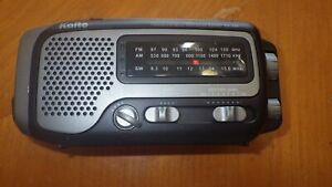 Kaito KA350 Solar Crank AM FM Shortwave Weather Radio Black euc