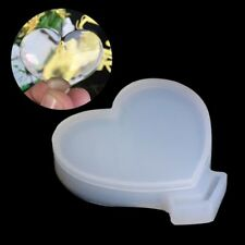 Transparent Silicone Pendant Mould Resin Loving Heart  Jewelry Tool For DIY New