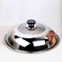 Round Basting Cover Stainless Steel Grill Bbq Wok Cooking Fry Pan Lid