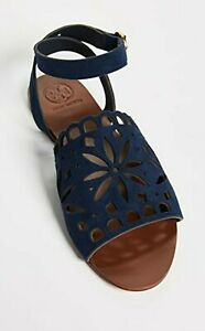 Tory Burch May Perforated Ankle Strap Sandals Shoes size 8