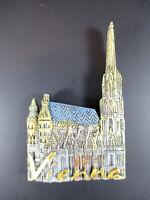 Viena Catedral de st Stephan Vienna Austria Recuerdo Imán, Poliresina Austria