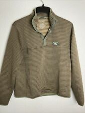 Mens Ll Bean Airlight Knit Snap Pullover | Slightly Fitted M | Heather Brown