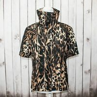 Joseph Ribkoff Women's Short Sleeve Jacket Top Cheetah Print Size 12