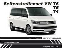 VW T4 T5 T6 Caravelle Seiten-Streifen Set Aufkleber Dekor Bus Dekor Decal