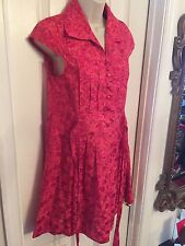 Dress by MARC BY MARC JACOBS SIZE 2 Silk Blend Rose Red Printed Cap Sleeve