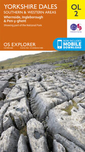 OL2 Yorkshire Dales South & West Ordnance Survey Explorer Map OL 2
