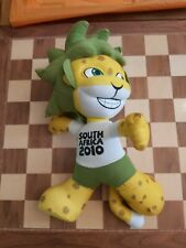"""FIFA WORLD CUP SOUTH AFRICA 2010 ZAKUMI OFFICIAL MASCOT 13"""" SOFT PLUSH TOY"""