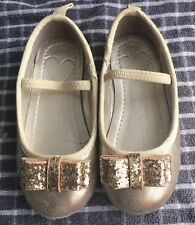 Girls MotherCare Shoes Infants Size 6 In Golden.Excellent Condition.