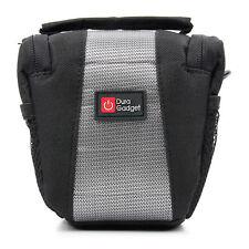 Black/Silver Nylon Shoulder Bag Case for Polaroid IEX29 Compact Camera