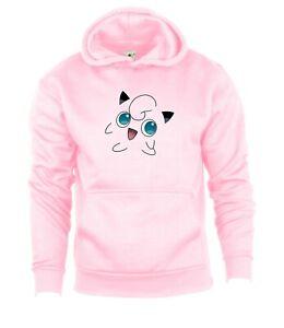 Pokemon Go JigglyPuff Hoodie Hooded Sweatshirt Kids Boys Girls Birthday Gift