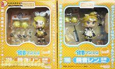 2PCS VOCALOID Nendoroid KAGAMINE LEN+RIN cheerful cheer leader anime Figure Gift