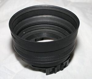 Hoyarex 921 collapsible tele wide rubber lens hood