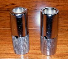 "Unbranded 2 Silver Heavy Metal 4"" Tall Screw On BMX Bike Pegs Only **READ**"