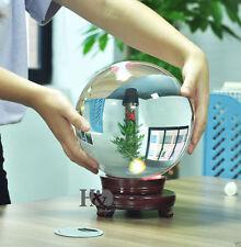 150mm Huge Asian Rare Quartz Clear Magic Crystal Healing Ball Sphere +Wood Stand