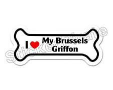 *Dog Bone Magnet* I Love My Brussels Griffon Car Truck Locker