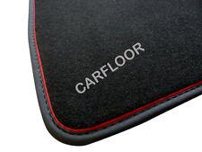 Für Kia Sorento ab 02.15  Fußmatten Velours schwarz Nubukband u roter Absetzung