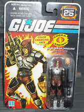 G I GI JOE 25TH ANNIVERSARY FOIL CARD COBRA MASTER OF DISGUISE ZARTAN FIGURE 888