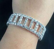 Rhinestone Crystal Stretch Bangles for Women Jewelry Fashion Elegant Bling Wedd