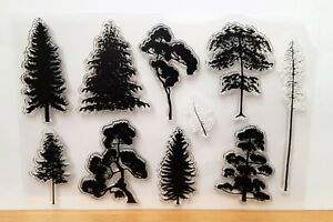Silhouette Trees Clear Stamps - 10 Different Trees
