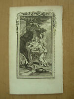 ANTIQUE 18th CENTURY LINE ENGRAVED SMALL PRINT JOSEPH COLLYER   REF 6