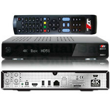 ►AX 4K-BOX HD51 UHD 2160p E2 Linux Receiver 2x DVB-S2 Sat Tuner PVR USB 3.0 HEVC