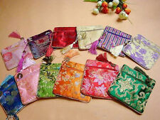 Handmade 5pcs Brand New Silk Jewelry & Coin Pouches Wallets Purses  Bags