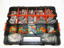 518 PC OEM GRAY DEUTSCH DT CONNECTOR KIT - SOLID TERMINALS + REMOVAL TOOLS,