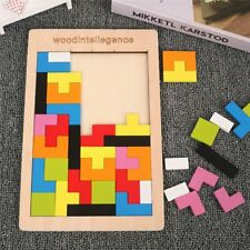Colorful 3d Puzzle Wooden Tangram Math Toys Game Educational Toy For Kids