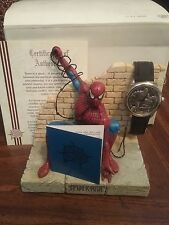 1999 Marvel Superman Universal Studios Brick Wall Statue and Watch Nib Coa