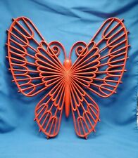 Vintage Large Butterfly Home Interiors HOMCO Red Molded Resin Butterfy