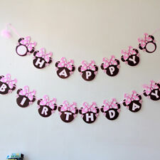 Birthday Decorations Girls Minnie Mouse Party Bunting 2.5 Meters Flags Banner