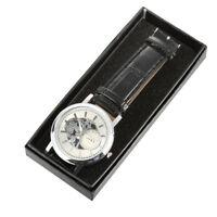 Black Women Men Watch Box Jewelry Gift Wristwatch Storage Case Organizer  QTU