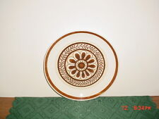 "ROYAL CHINA ""CAVALIER"" BROWN FLOWER 10"" DINNER PLATE/USA/STONEWARE/FREE SHIP!"