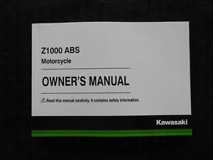 2014 KAWASAKI 1000 Z1000 ABS MOTORCYCLE OWNERS OPERATORS MANUAL NICE SHAPE